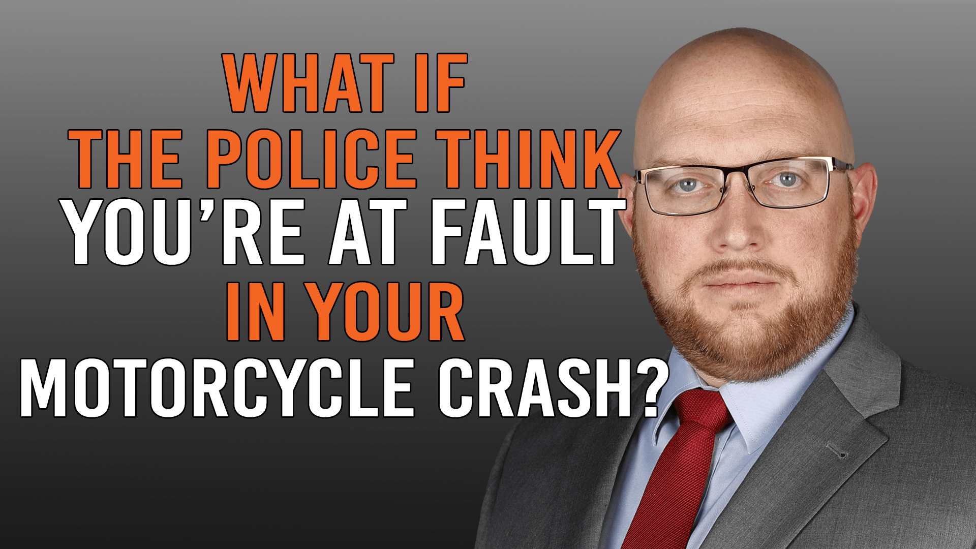what if you're at fault in your motorcycle crash?