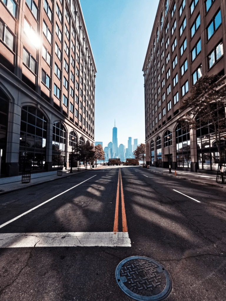 empty streets during the pandemic