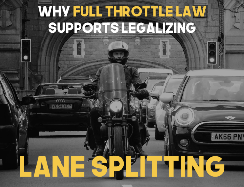 Why Full Throttle Law Supports Legalizing Lane Splitting or Filtering